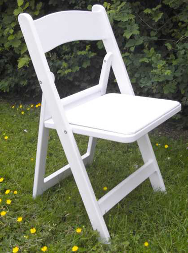 Superb White Resin Chair Rental Beaumont, Texas